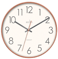 Acctim Hoxton Clock - Copper with White Face